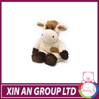 Custom promotion plush magnet animal toys soft cow