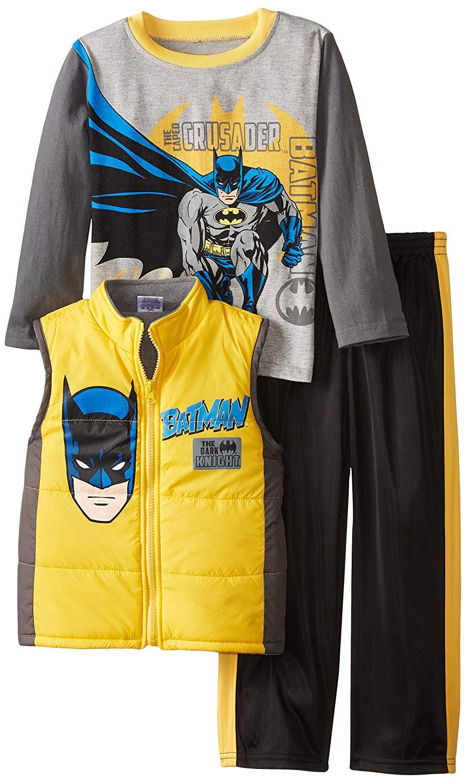 162f2db731 Get Quotations · DC Comics Boys  3 Piece Batman Vest Set