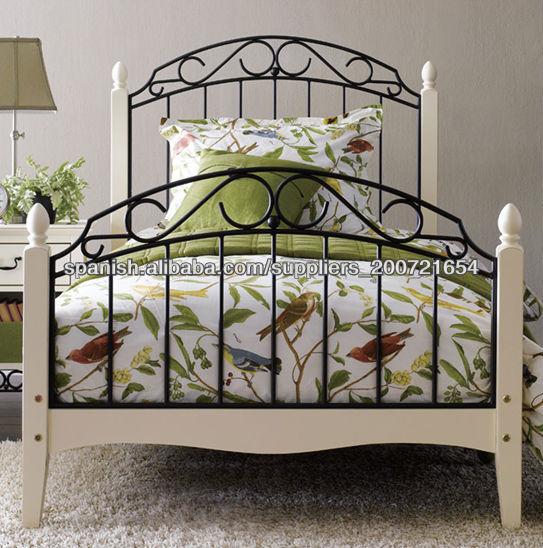estilo barroco muebles del dormitorio cama de madera de metal-Camas ...