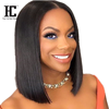 Short Lace Front Human Hair Wigs Bob Wig For Black Women Brazilian Straight Frontal Wig 130 Density Lace Closure Wig