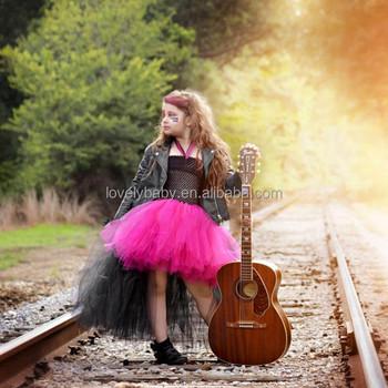 rockstar queen girls dress birthday outfit photo prop halloween costume little girl tutu dress funking girls
