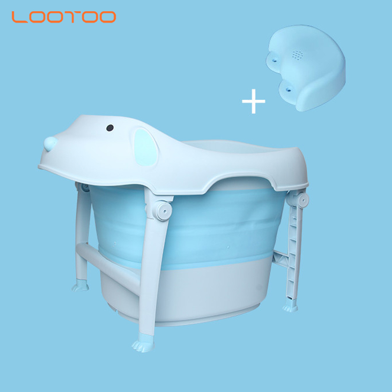 Strong baby products safe foldable deep plastic bathtub kids bath tub for sale