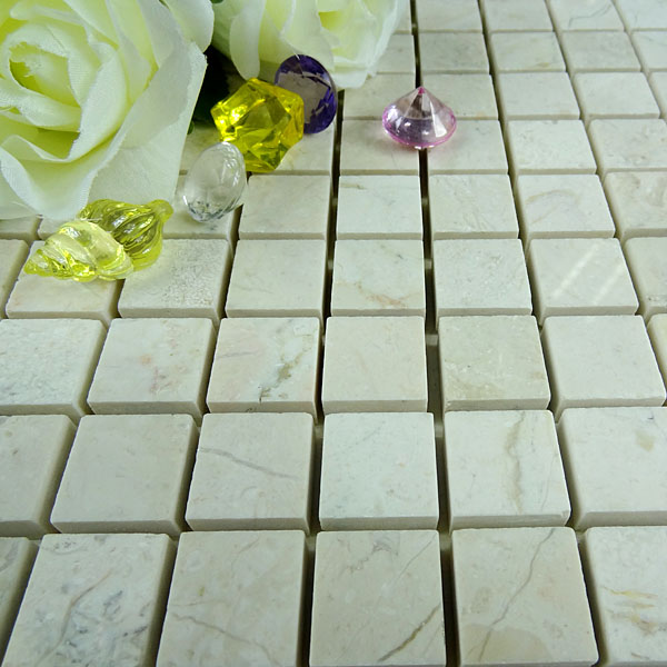 Indonesia beige grain marble, indonesia marble mosaic tiles