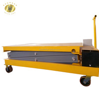 7LSJY Shandong SevenLift foldable manual small fourwheel electric sissor lift platform trolley