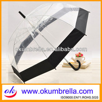 Totes Women Long Dome Umbrella Clear
