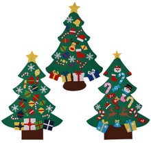 Christmas Gifts 힘 Felt Christmas <span class=keywords><strong>Tree</strong></span> 와 Lovely 장식품 <span class=keywords><strong>문</strong></span> 벽 걸 이식 장식