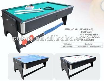 155d9b7c128 4 In 1 Pool Table