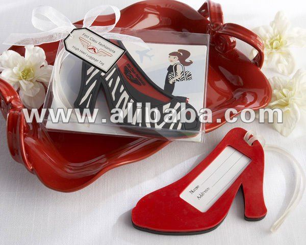 2012 Hot Product,Fashion High Heel Luggage Tag wedding favors