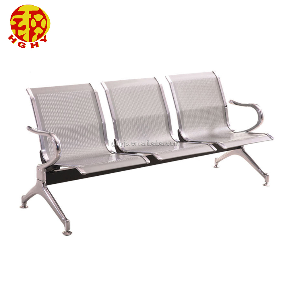 Custom Made Stainless Steel Metal Waiting Airport Bench Chair Legs