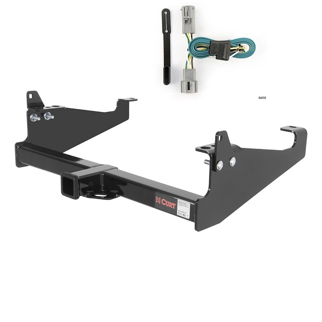 CURT Class 4 Trailer Hitch Bundle with Wiring for 2003-2007 Ford F-350 Super Duty - 14048 & 56032