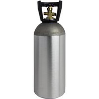 Home Brew 4L Refillable Aluminum CO2 Tank- Empty Homebrewing Air Gas Cylinder
