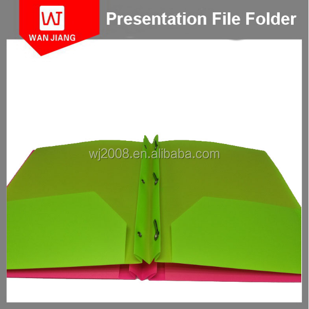 Letter size 0.3mm 0.4mm thickness polypropylene plastic file folder with two pocket insert