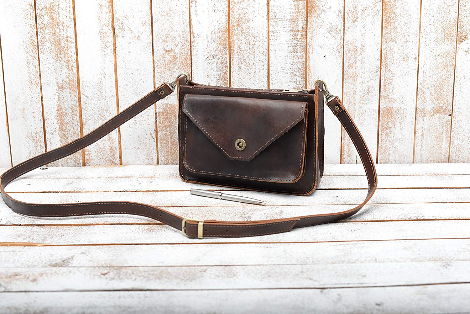 80ce05a52901 Get Quotations · Leather crossbody Bag