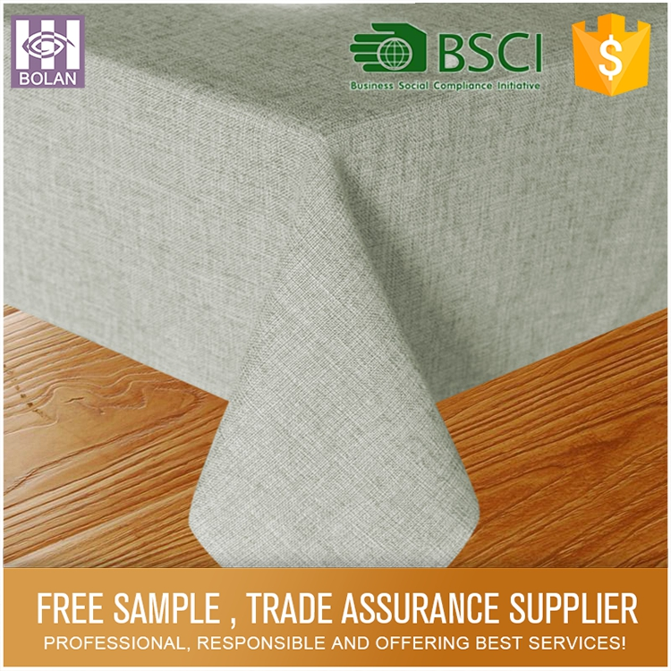 China gold supplier custom decorative leather tablecloth