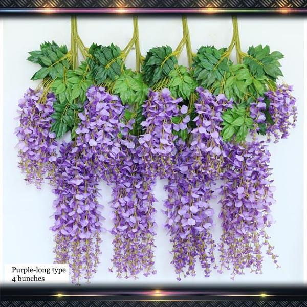 purple wisteria wedding hall decoration flowers buy hall decoration flowers wedding flower. Black Bedroom Furniture Sets. Home Design Ideas