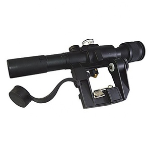 GSP5235--Tactical Russian POSP 4X26 SVD Red Illuminated Sniper Scope With Rubberized Support Sight Eyepiece Extender