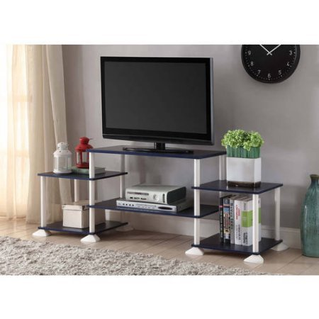 Mainstays 40 inches Contemporary Plasma/LCD TV Stand Entertainment Center Wood Composite and Plastic - Navy