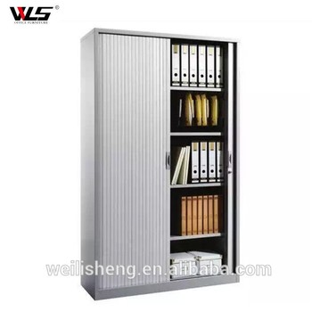 Office Furniture Large Tambour Cabinet Rolling Door Storage Cupboard