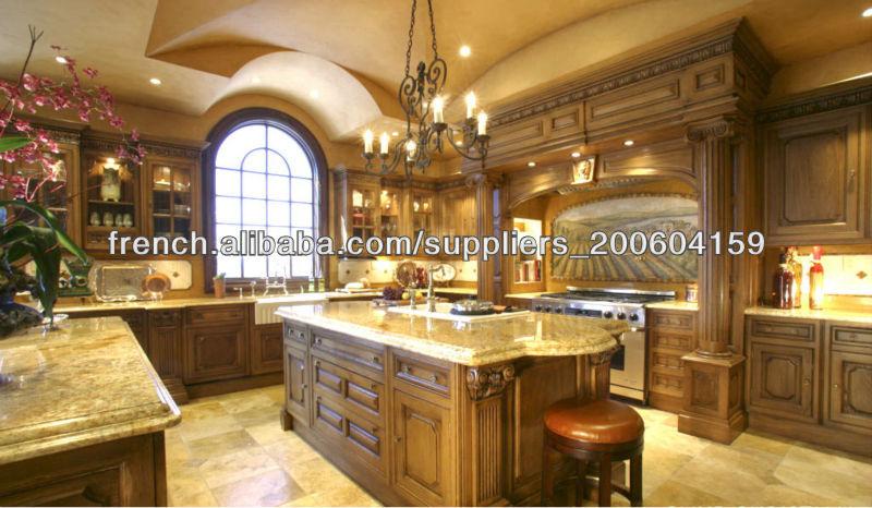 armoires de cuisine en bois massif conception DJ-K124-Armoire de ...