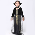 GIRL Spider Girl Kids Cosplay Costume 2015 Halloween Party Black Witch Devil Costumes for Kids Carnival