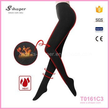 4632c2975952c Women Warm Winter Skinny Slim Leggings Stretch Pants Thick Footless  Compression Tights