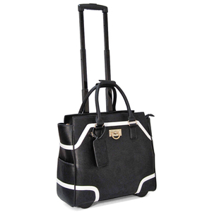 PVC wheeled laptop bag for women briefcase