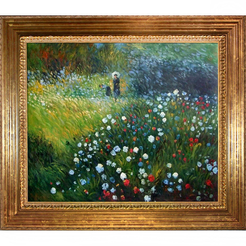 "overstockArt Woman with a Parasol in a Garden ""Frau mi Sonnenschirm"" Oil Painting by Pierre Auguste Renoir"