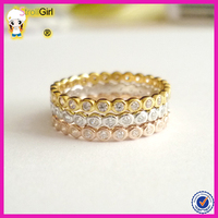 Classical hotsale platinum 18k gold rose gold pair engagement ring silver eternity band engagement ring macys