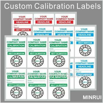 Custom Cut Sticker Sheet Custom Calibration Labels