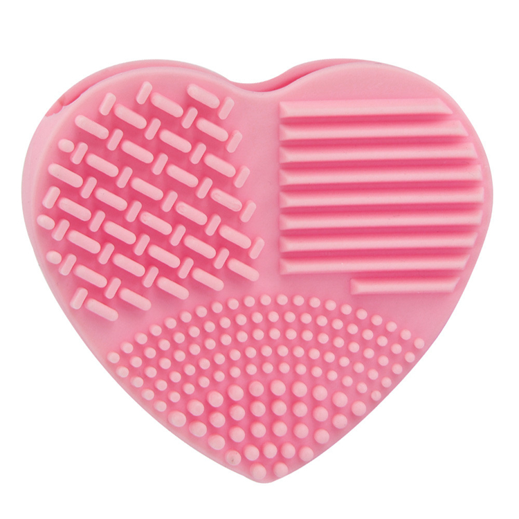 Heart shape 2pcs tool silicone makeup brush cleaner