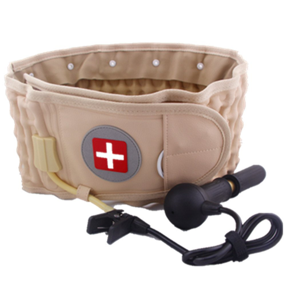 Hubry (TM) Best Gift for old Spinal Air Traction Physio Decompression Waist Belt Back Brace Back Pain Lower Lumbar Support Back Massager