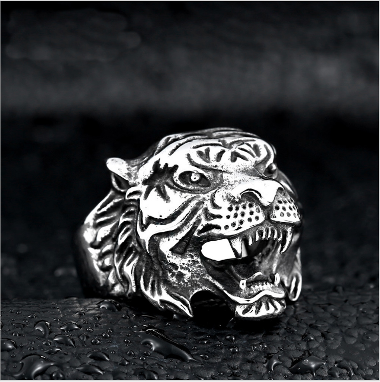 Men's 316L Stainless Steel Animal Design <strong>Ring</strong> Band Vintage Gothic Tribal Biker Tiger Sheep Eagle Wolf Head Silver Glod <strong>Ring</strong>