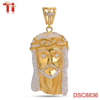 Dongguan aohua jewelry dsc8836 gold jesus piece pendant stainless dongguan aohua jewelry dsc8836 gold jesus piece pendant stainless steel jesus head pendant dubai gold aloadofball Images