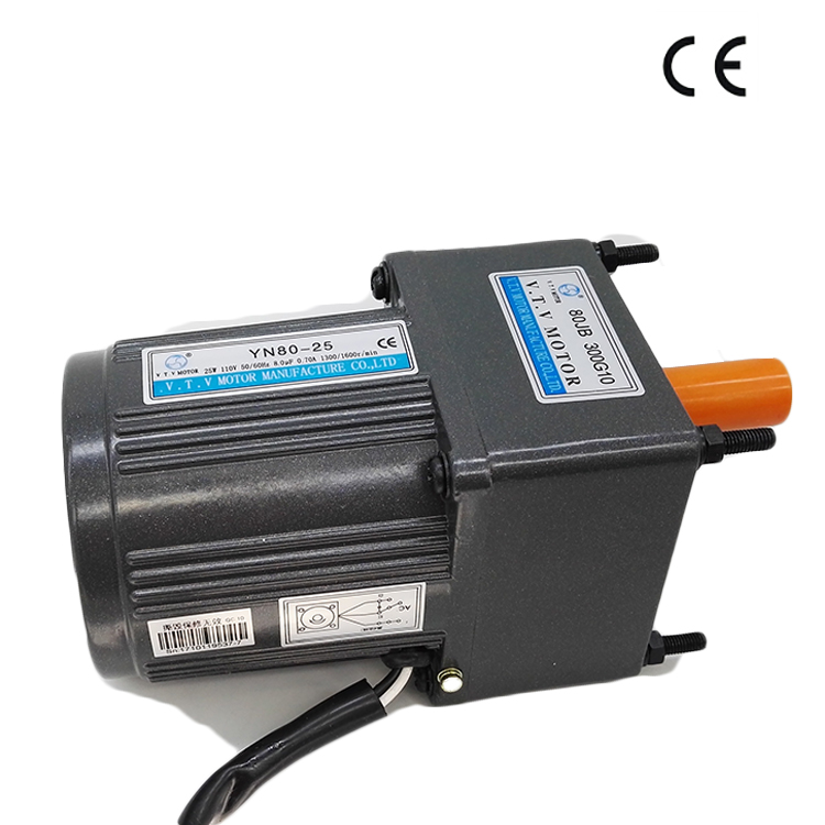 VTV mini YN80 <strong>ac</strong> 110V 8mm shaft asynchronous gear motor with gear box