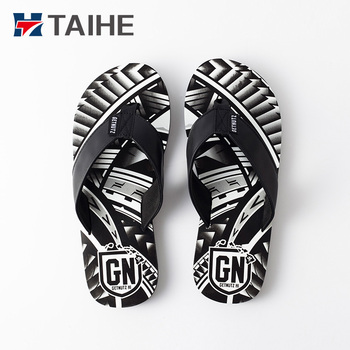 39ffcfcce 2017 New Style Embossed 100 Rubber Slippers Sandals Men Leather Flip Flops