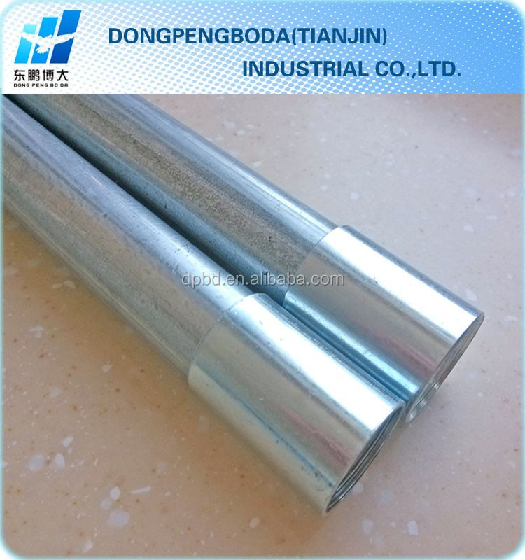 BS 4568 emt class 3 and class 4 conduit galvanized tube