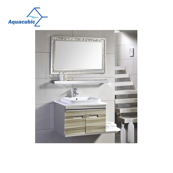Modern Design Stripes Painting Stainless Steel Bathroom Furniture
