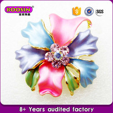 Cheap price wholesale colorful flower brooch large