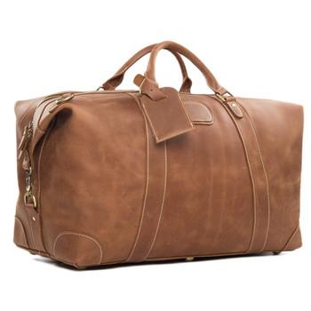 Custom Retro Top Grain Genuine Designer Leather Duffle Bag Holdall Weenkend Luggage Overnight Travel