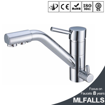 3 Way Brass Lead Free Kitchen Faucet Mixer Drinking Water Filter Tap