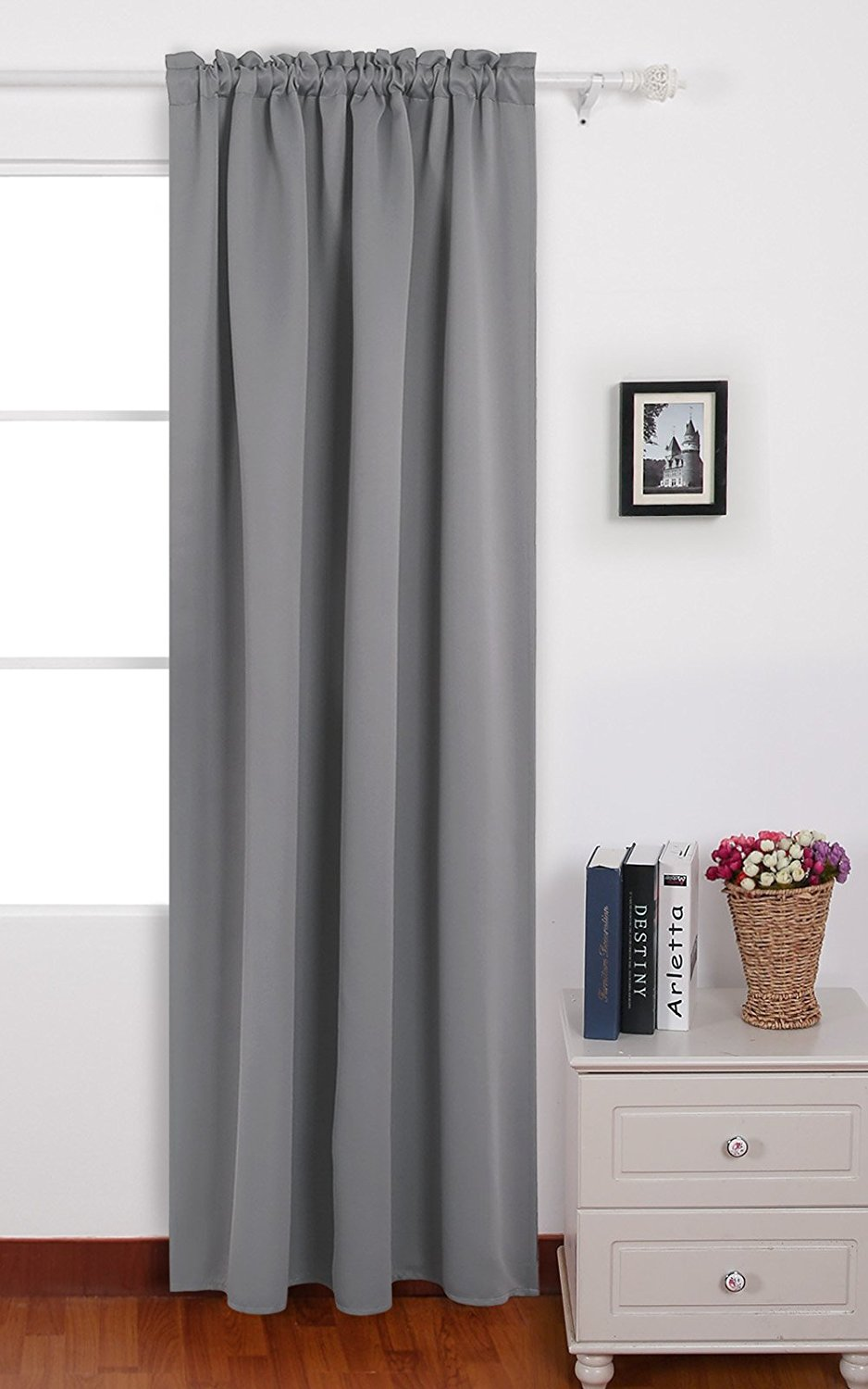 Get Quotations Deconovo Light Grey Blackout Curtains Rod Pocket Drapes Thermal Insulated For Dining Room 42 W