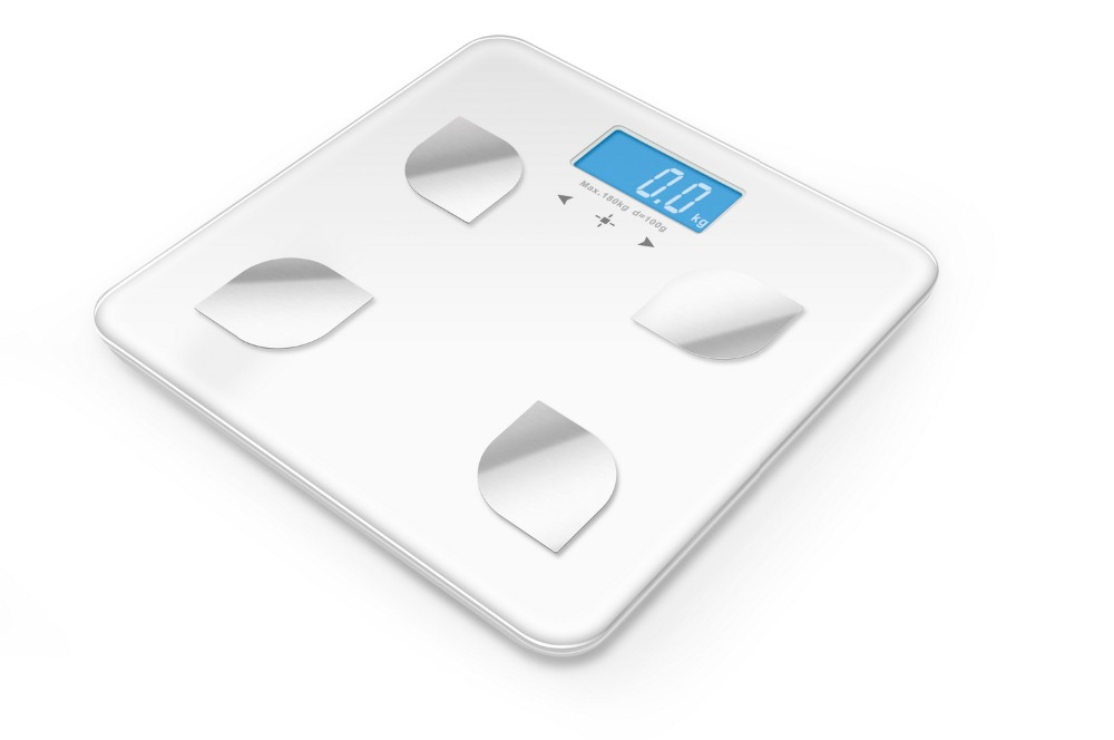 APP control electronic Bluetooth bathroom scale with body fat, water, bone composition analyzer MAX180KG