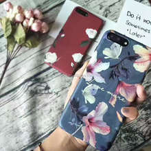 Restore ancient ways, the flowers frosted arenaceous art mobile phones and accessories,IMD Case for iPhone 6/6 plus/7/7plus/8