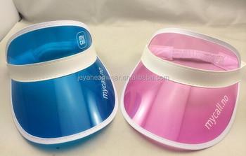 ce5578795dc Printing Logo Visor Cap Fashion Transparent PVC Eyeshade Perspex Sun Visor  Cap Clear PVC Visor
