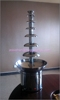 mini black and white chocolate fountain machine with led base