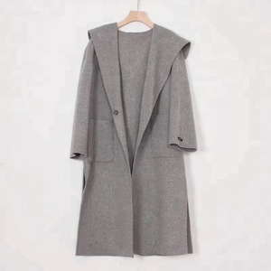hot sale high quality custom made Hand sewn women wool coat 100% cashmere 2018 autumn winter new fashion