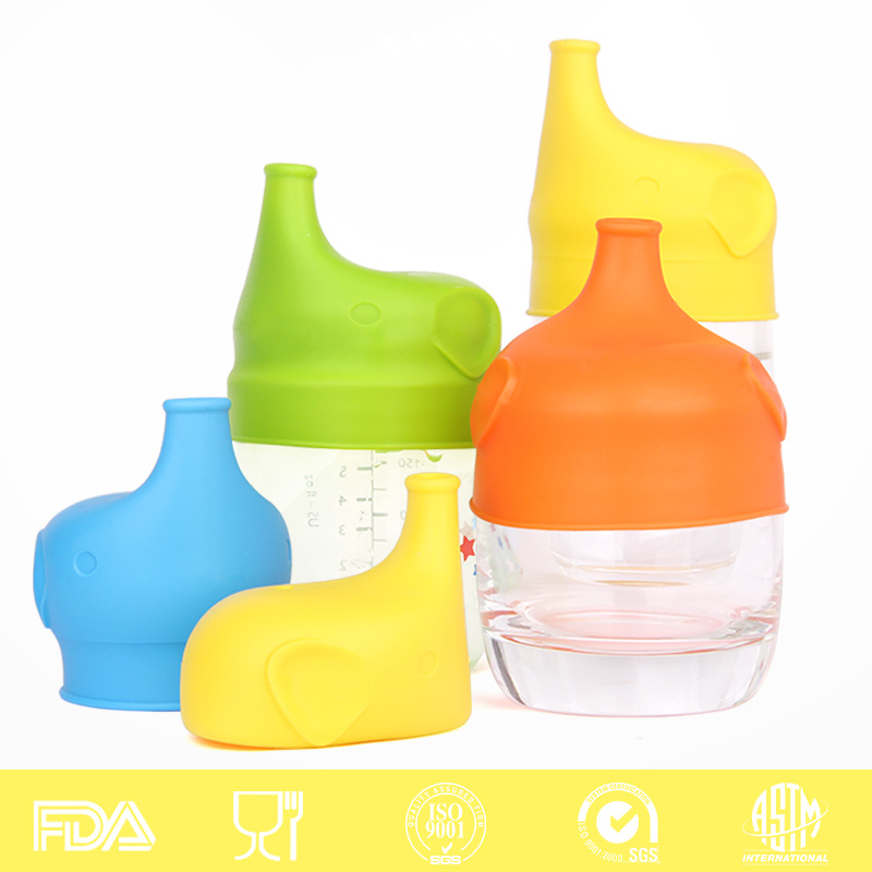 Spill Proof Flexible Replacement <strong>Cap</strong> For Toddlers Cup Food Grade Silicone Sippy Lids