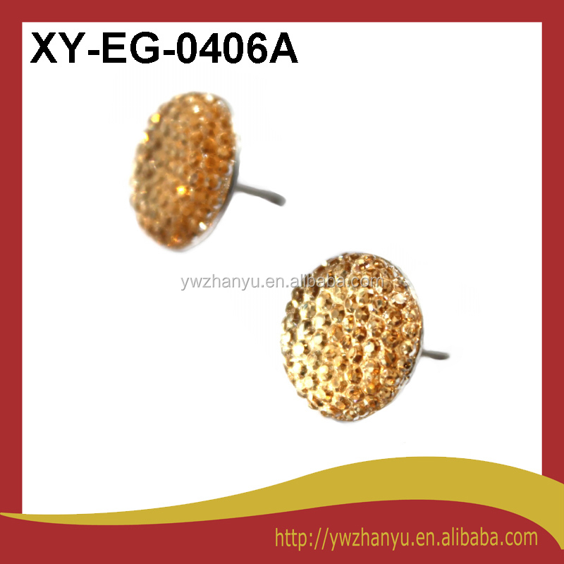new fashion resin diamond inlaid stick earrings