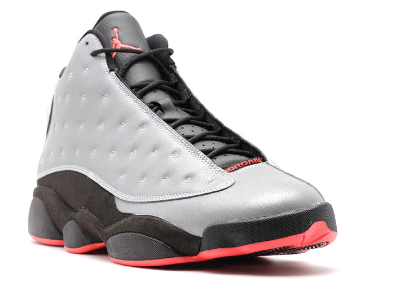 a3b0d8539f24 Get Quotations · Jordan Air 13 Retro Premium 3M Men s Shoes Reflect Silver  Infrared-Black 696298-