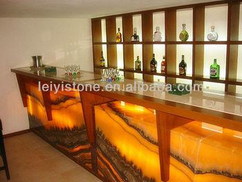 Orange Onyx For Bar Table
